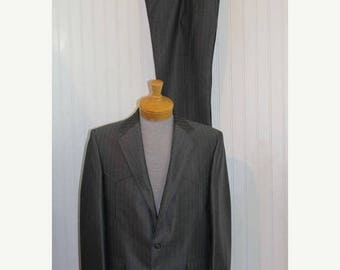 On Sale 50% OFF NWT  Vintage Men's Pagano West Tailored Apparel Western Suit Jacket Blazer Coat  Pant  Size 42 Made in USA