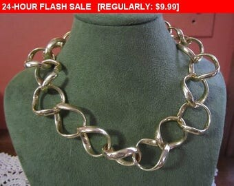 Chunky Goldtone chain necklace for wear, craft or repurpose