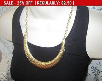Gold tone bib necklace, statement necklace, estate jewelry