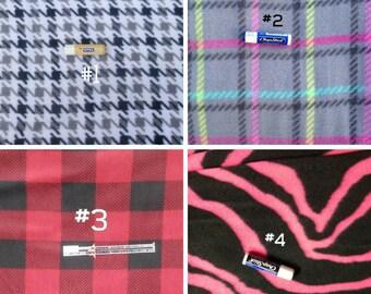 Fleece Fabric Choices #1 - Custom Car Seat Poncho Fabric Choices