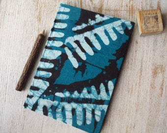 2017-2018 A5 academic midyear planner diary calendar agenda weekly Unique Bespoke Customised hardback cover traditional African batik