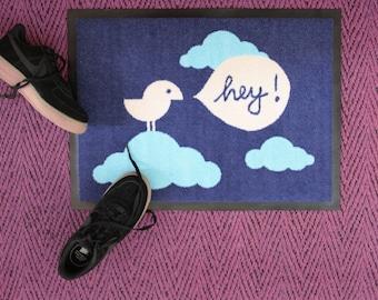 """Doormat """"Birdy Hey"""" 60 x 45 cm"""