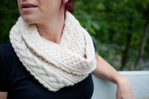 Aran Infinity Scarf Knitting Pattern : Almost Aran Infinity Scarf Knitting PATTERN // cable knit ...