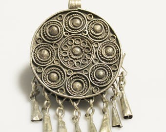 Ethiopian Dangle Amulet Pendant, African Jewelry Supplies (AM65)