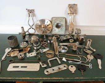 Scrap Metal Pieces 47 Mixed Media Altered Art Supply Steampunk Robots