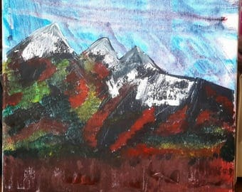 Fall mountain painting