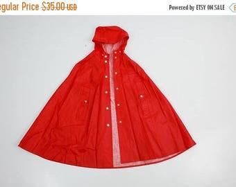 25% OFF Kids Raincoat / Rukka Raincot / Red Raincoat / Hooded Raincoat / Vintage Raincoat / Rain Coat