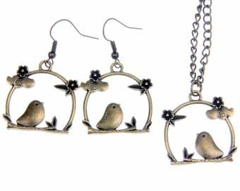 Birds Necklace Earrings BP