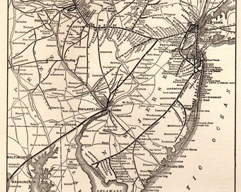 1914 Antique CHICAGO Rock Island and PACIFIC Railroad Map