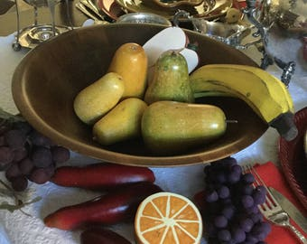 13 Pieces-Solid Wood Decorative Primative Fruits/Bowl Filler/Decoration/Craft/Arrangement