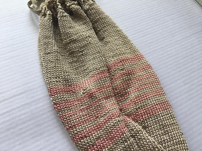 Antique 1920s Ecru Silk Crochet Drawstring Reticule Purse with ...