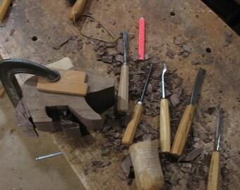"""Hand-carved Black Walnut Grizzly Bear  9"""" x 5"""" x 3.5"""""""