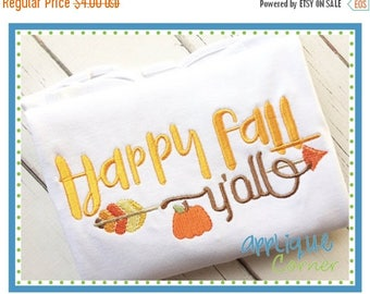 40% OFF INSTANT DOWNLOAD 3323 Happy Fall Y'All embroidery digital design for embroidery machine by Applique Corner