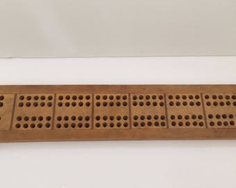 Vintage BAIRD XLG Wood Cribbage Board Board Game USA