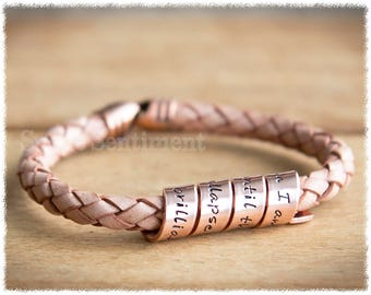 Womens Anniversary Gift • Copper Anniversary • Copper Bracelet • Personalised Jewellery • Long Distance Relationship