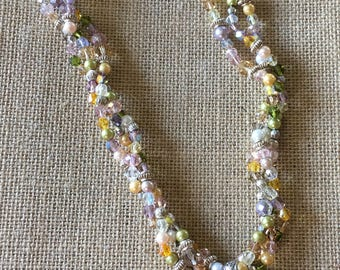 Butterfly Garden Necklace and Matching Earrings