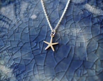 Sterling Silver Starfish Necklace - Starfish Charm - Beach Charm - Silver Starfish Charm - Beach Jewelry - Gift For Her - Beachy - Ocean