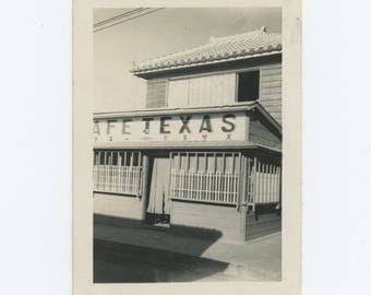 Cafe Texas, Japan, c1940s-50s: Vintage Photo Snapshot (76586)