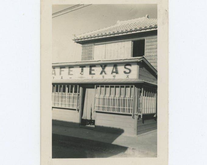Cafe Texas, Japan, c1940s-50s: Vintage Photo Snapshot (76586)