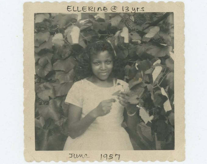 "Vintage Snapshot Photo: ""Ellerine @ 13 yrs, June 1957"" Jr. High Graduate (78600)"