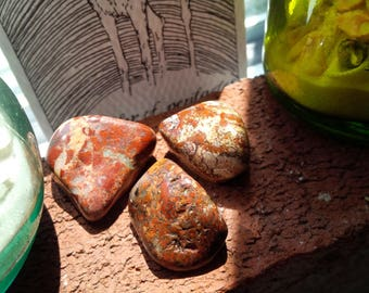 Set of 3 Brecciated Jasper Crystals - Reiki charged - Healing Crystals Meditation Protection Magick Animal Totem - Nature Mother Earth