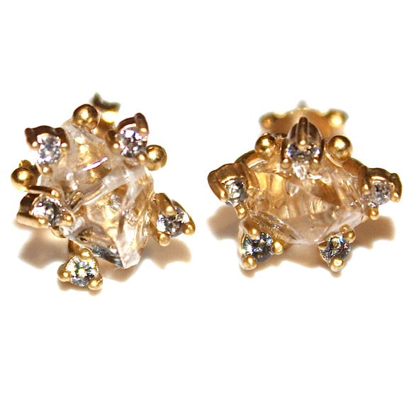 Chunky Quartz Stud Earrings