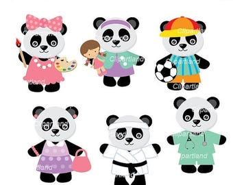 ON SALE INSTANT Download. Panda clipart. Cpan_5. Personal and commercial use.