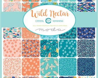 NEW - Wild Nectar Charm Pack by Crystal Manning for Moda