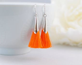 The Delia Earrings - Orange