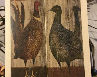 Pheasant and Grouse Thanksgiving Card