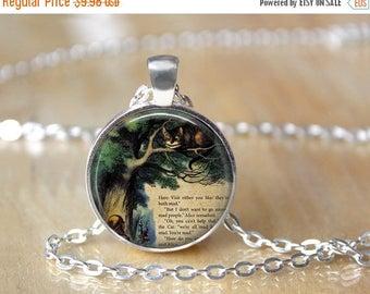 SUMMER SALE Alice In Wonderland Necklace - Alice in Wonderland Jewelry - Alice in Wonderland Pendant - Book Necklace - Book Pendant - Book L