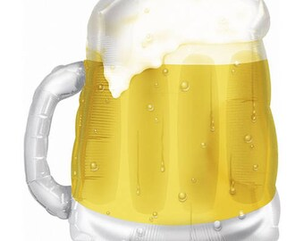 BEER MUG BALLOON / 1 Chilled Mug of Beer / Beer Stein / Beer Me / Oktoberfest / Dirty 30 / Bday / Bachelor Party / Happy Father's Day