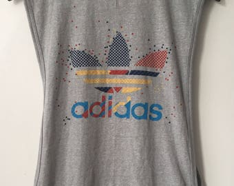 vintage adidas tank top adult size medium 90s made in USA