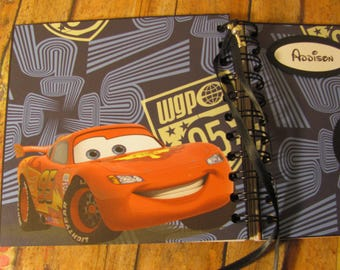 SALE 80pgs Personalized Disney Autograph Book CARS Lightning McQueen for Boys (w/out Bows) and Girls (w/Bows)