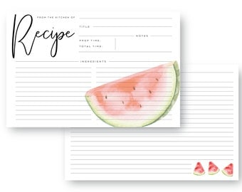 Watermelon Recipe Card