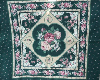 Fabric: Pillow Panels, Quilt Design, Roses