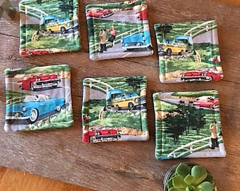 1950's Style Coaster Sets:  The Scenic Highways Collection