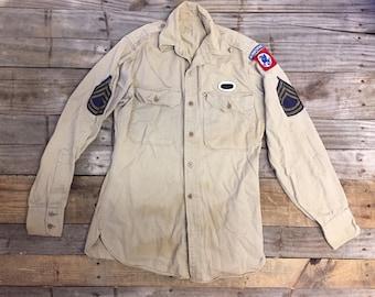 1947 WWII US Military Dress Shirt