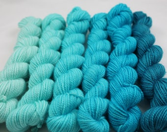 Aquas Gradient Set Victorious 100% SW Merino Fingering Weight Gradient Set Sock Yarn