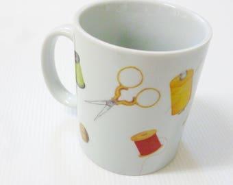 "Porcelain ""the dressmaker mug"" mug"