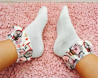 Bicycle Frilly Socks, Bicycle, Cycling, White Socks, Socks, Frilly Socks, White Frilly Socks, Cycling Socks, Bicycle Socks