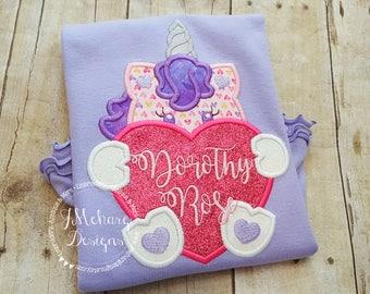 Unicorn Peeker Valentines Shirt - Valentines custom shirt - Unicorn lavender