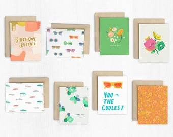 Mixed Set of 8 Greeting Cards