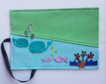 Under the Sea, Felt Board Set, Pretend Play, Felt Fish, Pre-school Childrens Gift, Quiet Play, Travel Toy, Montessori, Kids Educational