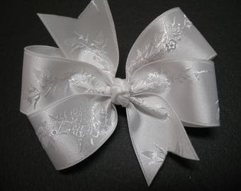 Little 3 inch Petite Sweet Baptism Hair Bow Toddler Baby Girl Small bow