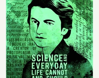 20% OFF SALE Rosalind Franklin Science Quotes Poster