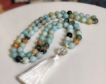 Amazonite Mala Necklace