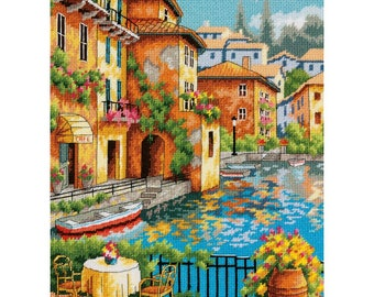Cafe On The Canal Needlepoint Kit
