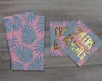 Palm print Guest Towel Napkins