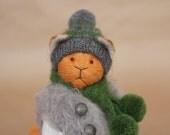 Teddy Bear Teddy Cat Akim Stuffed Animal Soft Toy Handmade Toy Artist Teddy Bear OOAK